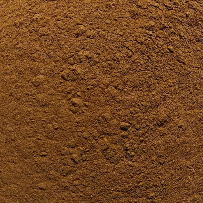 A closeup of loose Fo-ti Powder (Cured)