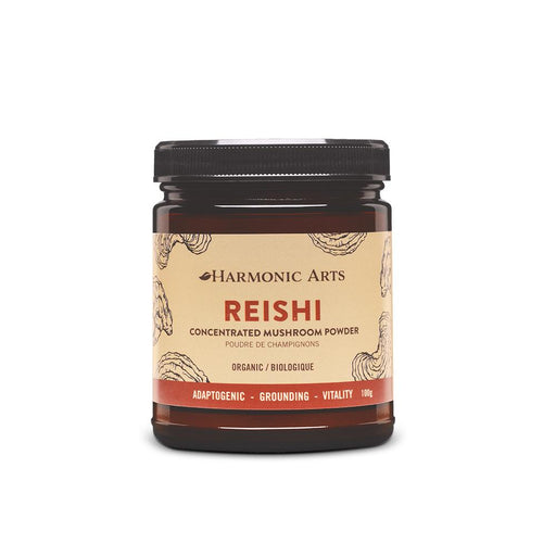 A jar of Reishi Concentrated Mushroom Powder