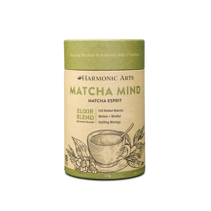 A small canister of Matcha Mind