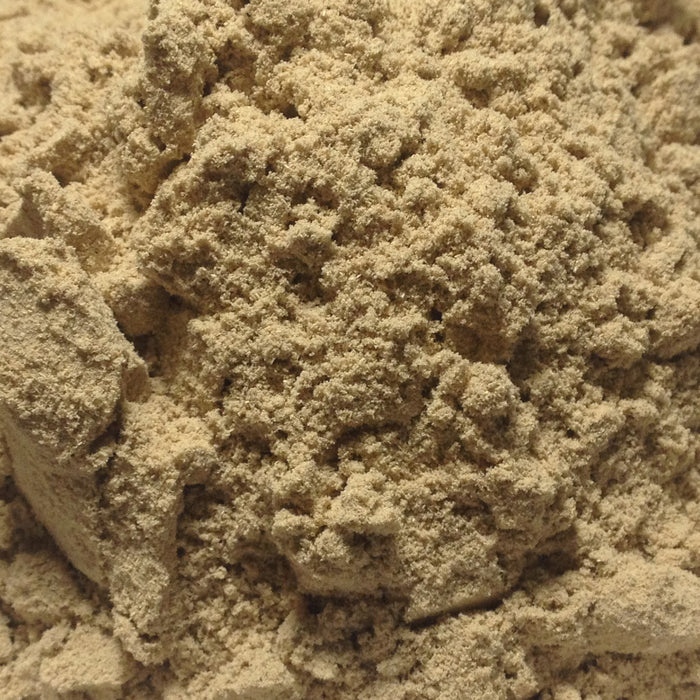 A closeup of Kava Kava Root Powder