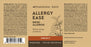 The label of Allergy Ease tincture