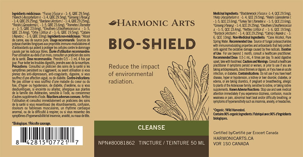 The label of Bio-Shield
