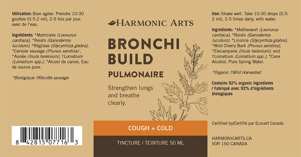 The label of Bronchi Build tincture