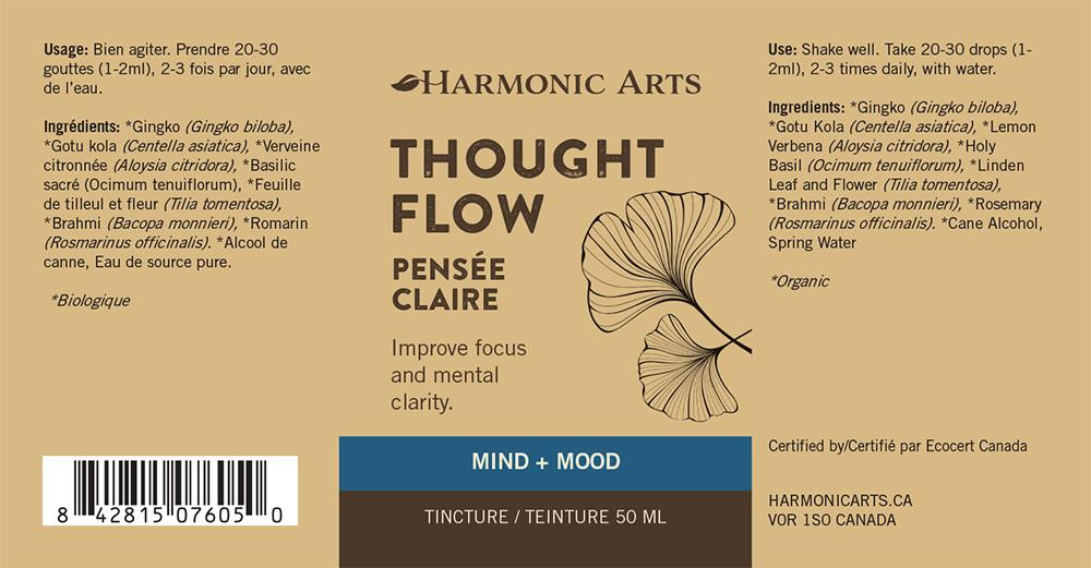 The label of Thought Flow tincture