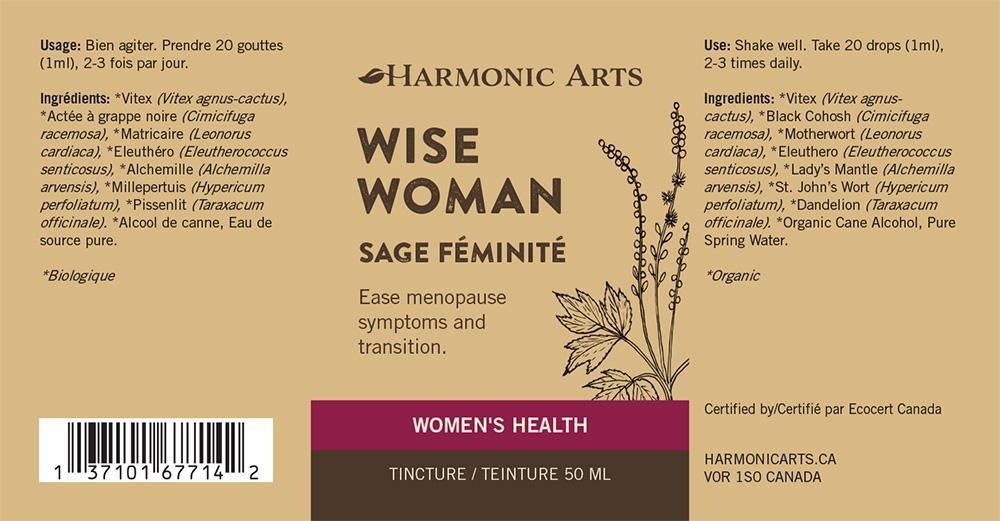 The label of Wise Woman tincture