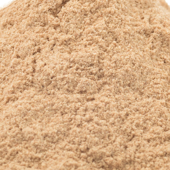 A closeup of Lucuma Powder