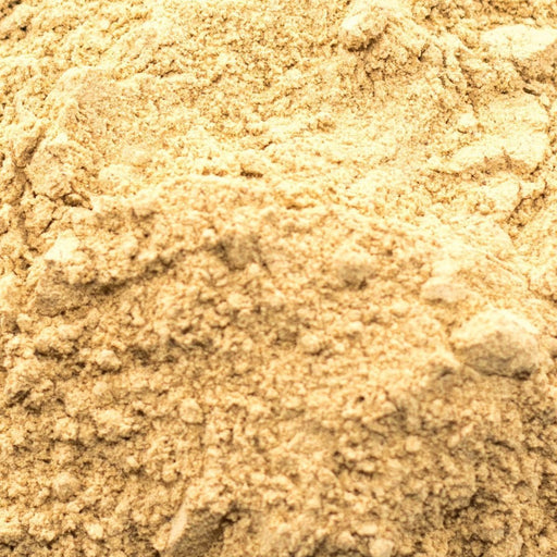 A closeup of Maca Powder