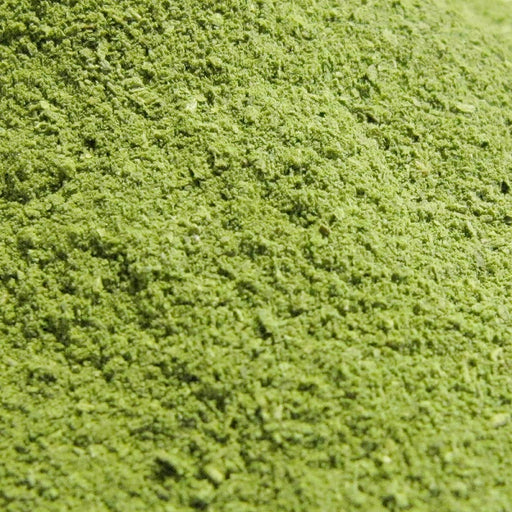 A closeup of Moringa Leaf Powder