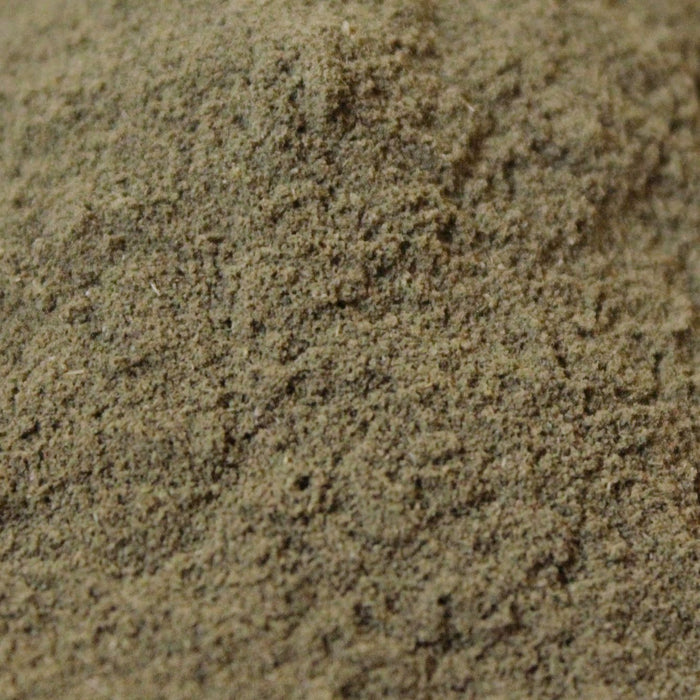 A closeup of Stevia Leaf Powder