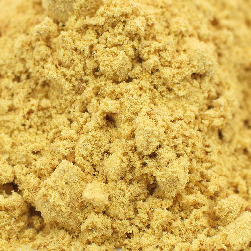 A closeup of loose Ginger Root Powder