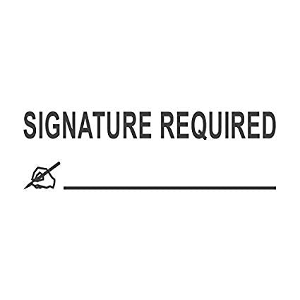 Signature Required (Canada Only)