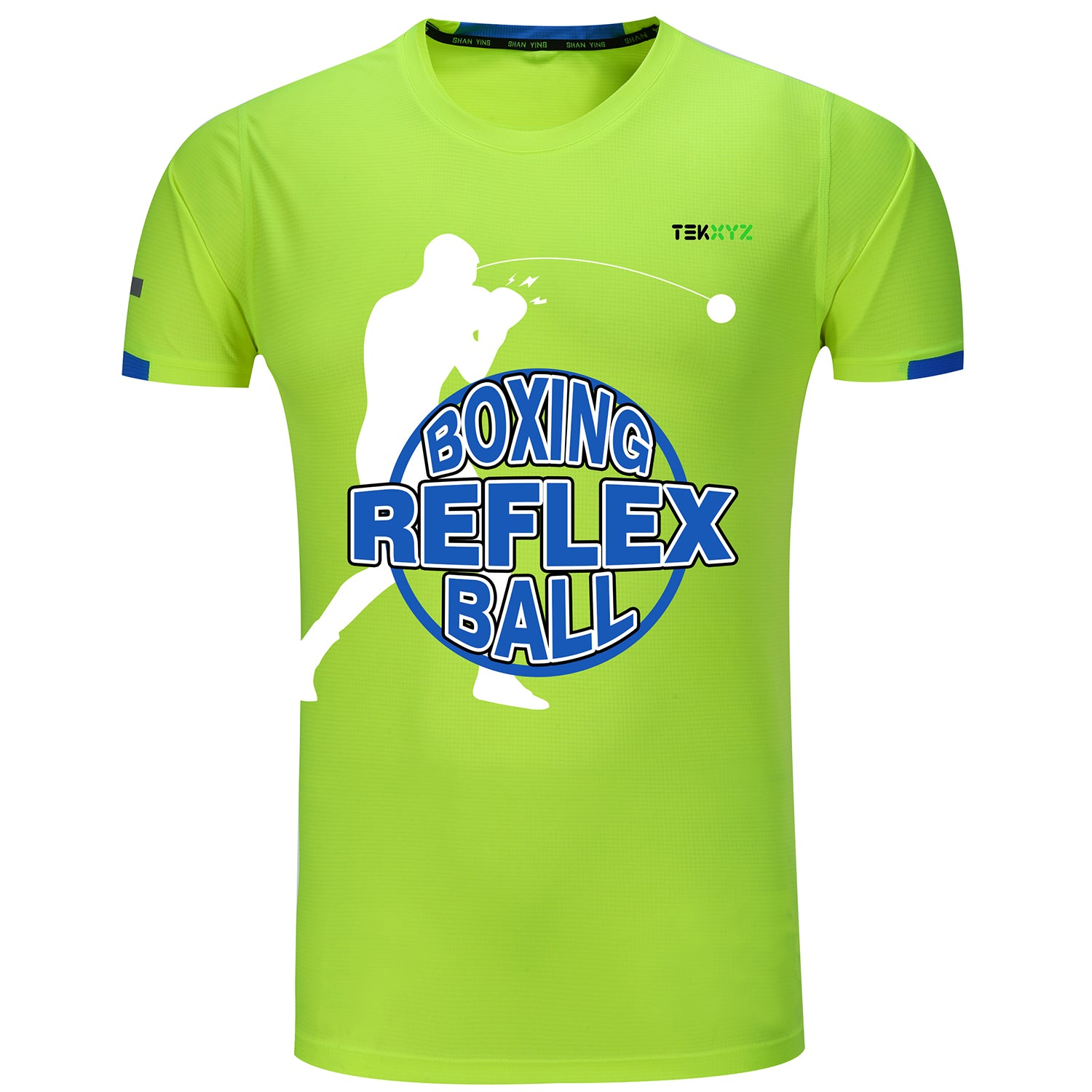 TEKXYZ Boxing Reflex Ball Theme Short Sleeve T-Shirt