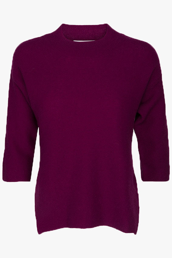 Carolina Cashmere Blouse Bordeaux