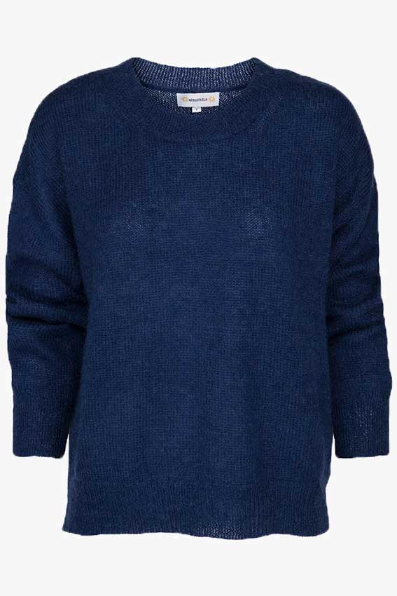 Clifton Mohair Texture Knit Navy