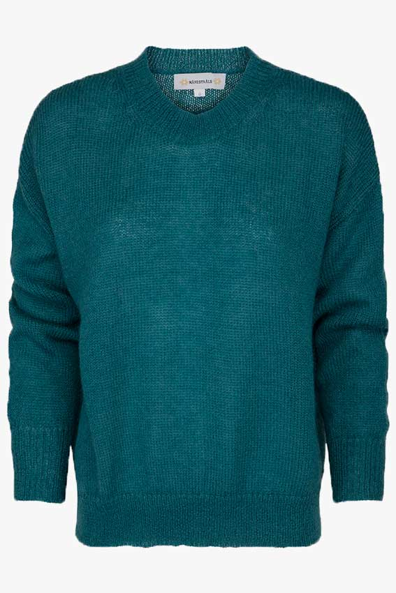 Clifton Mohair Texture Knit Forest