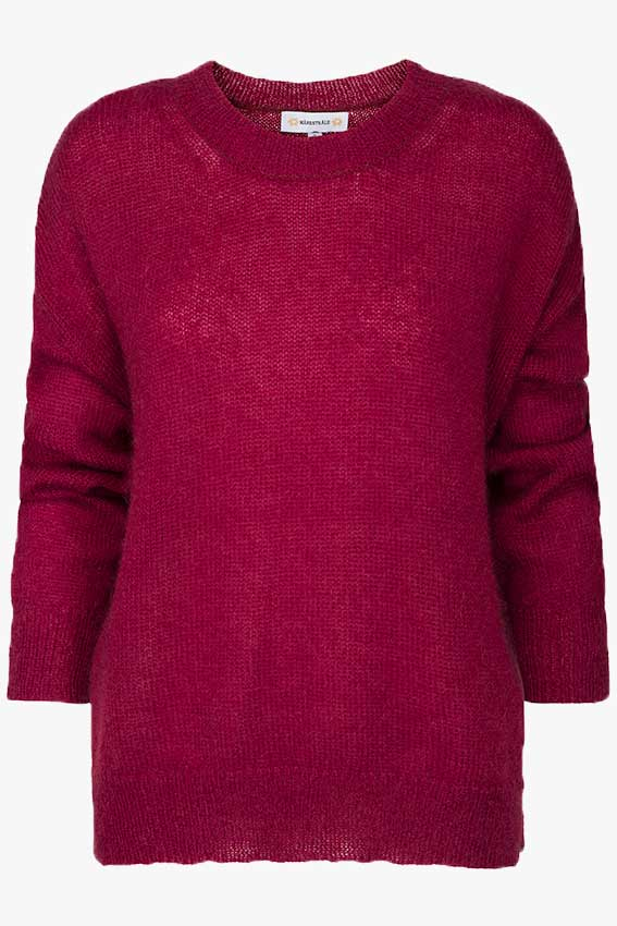 Clifton Mohair Texture Knit Wine