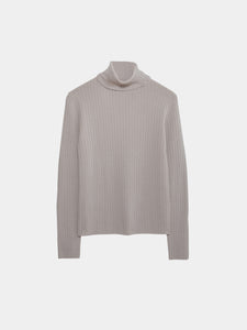 Rose Merino Turtleneck