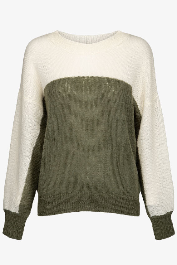 Rosa Bicolor Jumper Green