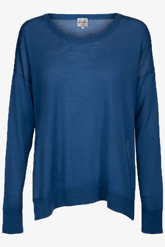 Siri Lightweight Merino Jumper Light Navy