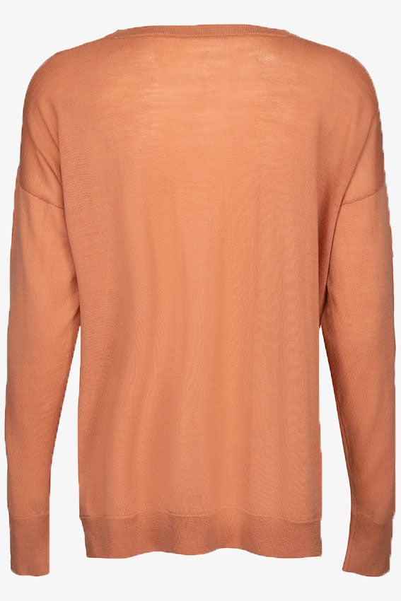 Siri Lightweight Merino Jumper Rusty Red