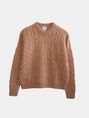 Saga Mohair Cable Knit