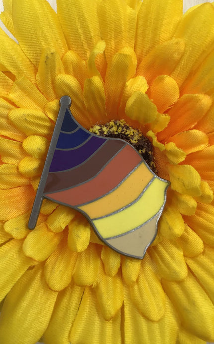 Hueniversal Flag Pin