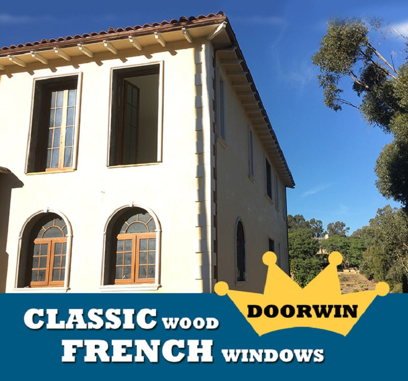 Doorwin's Wonderful Projects Of Wood French Windows/ Doors --- Pine Wood French Windows/ Doors With Grilles