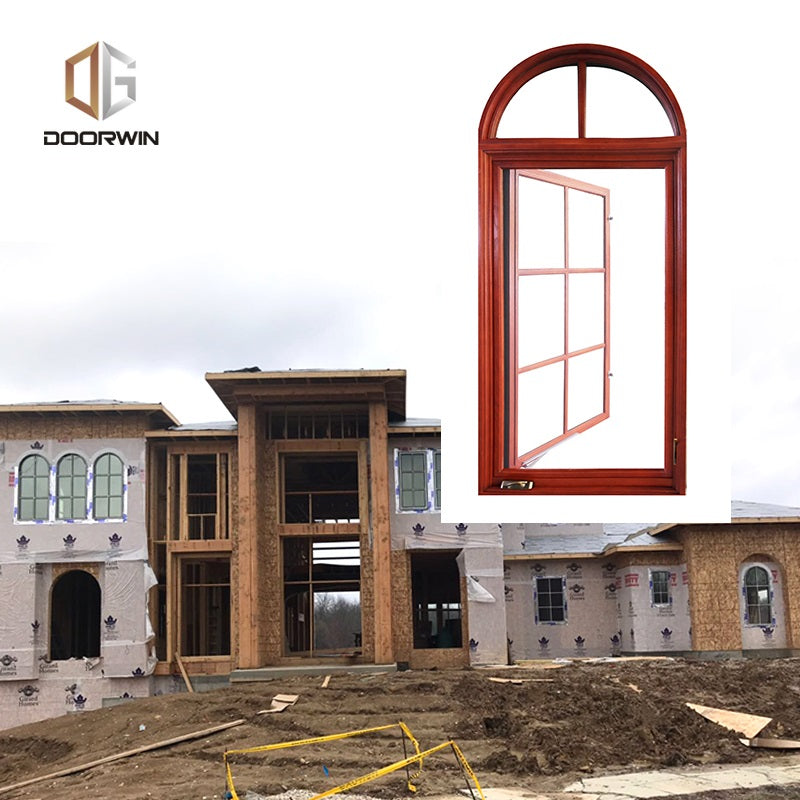 Doorwin Missouri Project of American Casement Windows With Foldable Crank Handle  --- Aluminum Clad Oak Wood Windows
