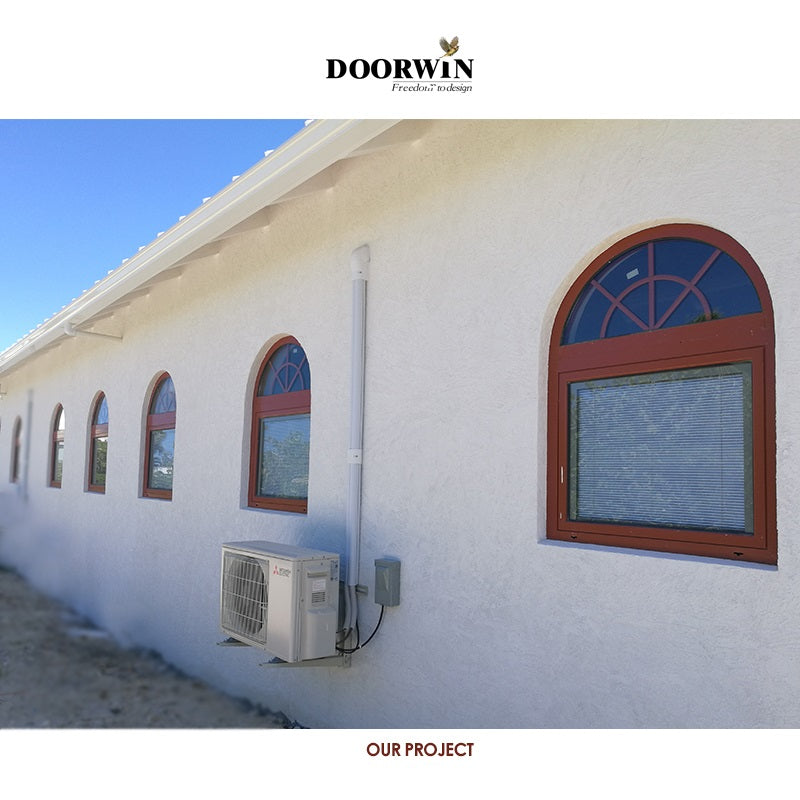 Doorwin Arched Top Aluminum Windows With Grilles