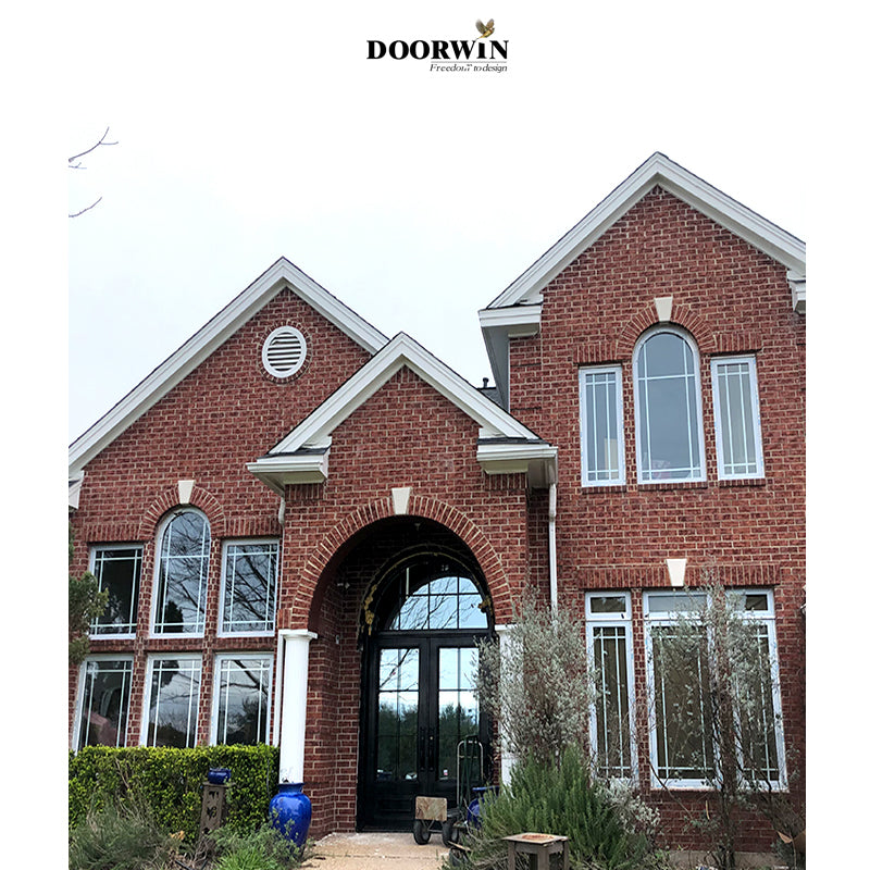 Doorwin Project Of PVC Crank Casement Windows With Prairie Style Grilles