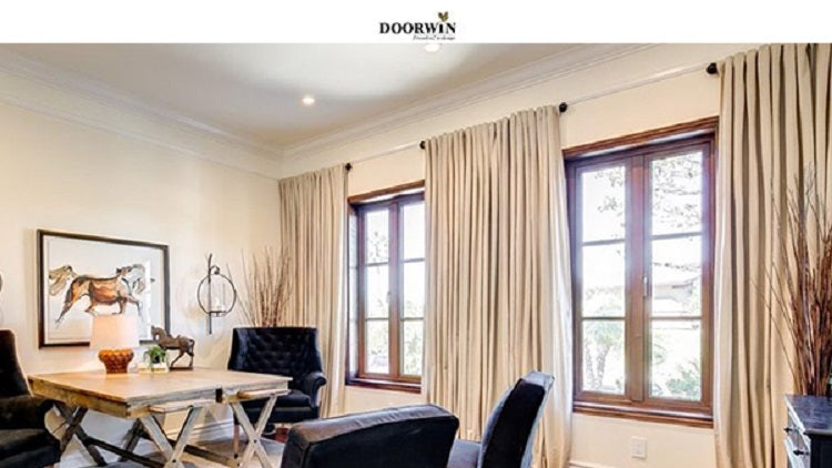 Doorwin Project Of Teak Wood Aluminum French Windows