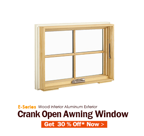 E-Series Crank Open Awning Window