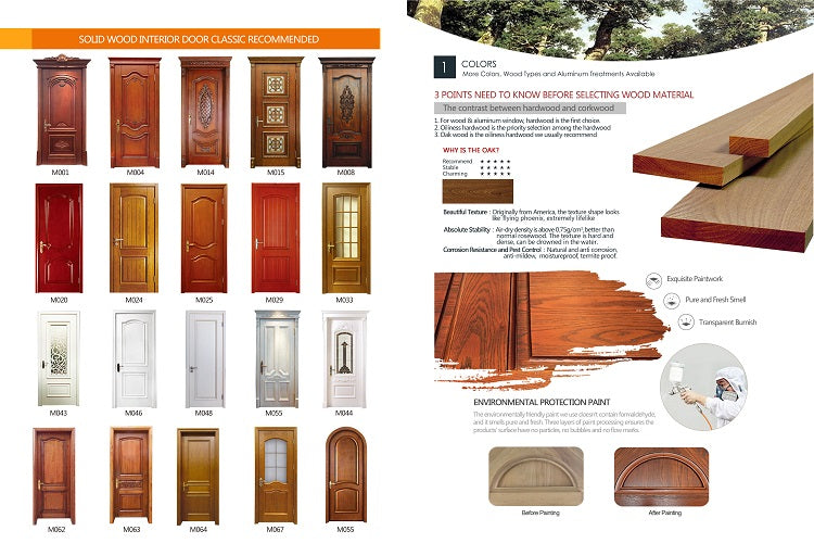 Solid Wood Interior Door Classic Recommended