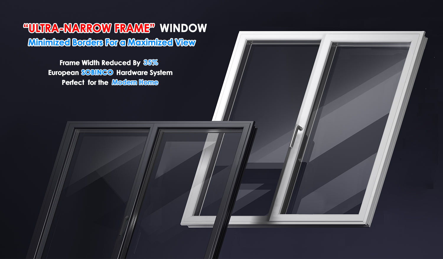 Modern Double Glazed Casement Windows by Top China Manufacturer for California and North America