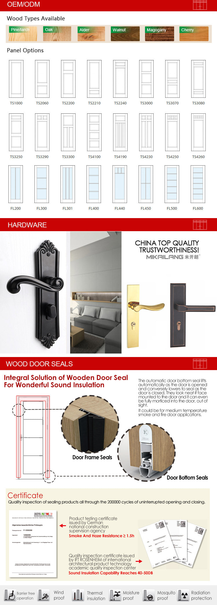 hinged interior door-21-05