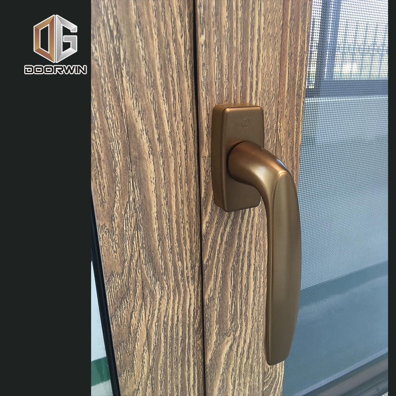 DOORWIN BURGLAR PROOF WINDOWS 3D WOOD GRAIN ALUMINUM WINDOW
