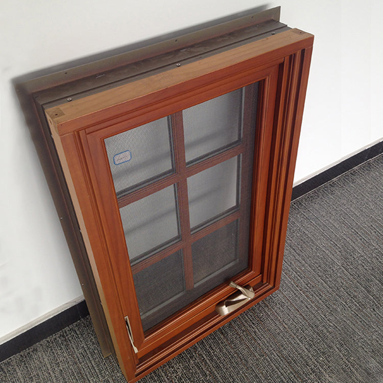 Nice appearance solid wood non finger jointed pine wood window