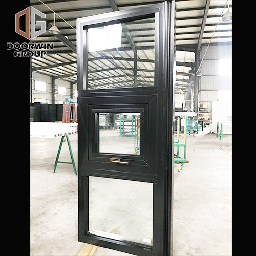 Black powder coating paint color thermal break aluminum awning window