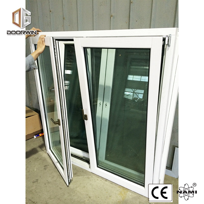 tilt turn window-white oak wood with exterior aluminum cladding