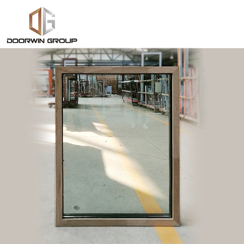specialty shapes window-12 thermal break aluminum window with oak wood cladding