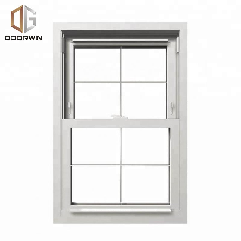 2016 latest design American Single Hung Thermal Break Aluminum vertical Sliding Window with inside grill by Doorwin
