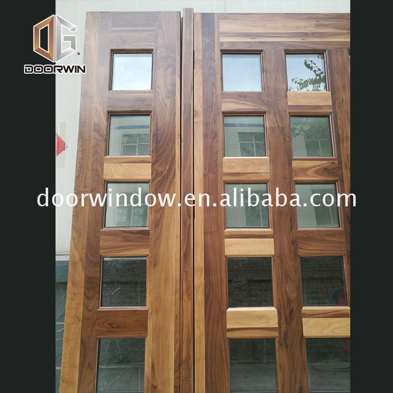 2017 new products italian design wooden doors front wood double door designs exterior by Doorwin on Alibaba