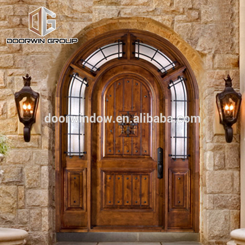 2018 Custom Front Door Knotty Alder Arched Exterior Wood Doors by Doorwin