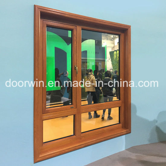 2018 Doorwin New Product Glass Panel Window with Hidden Screen Window - China Outswing Window, Aluminum Clad Red Oak Frame