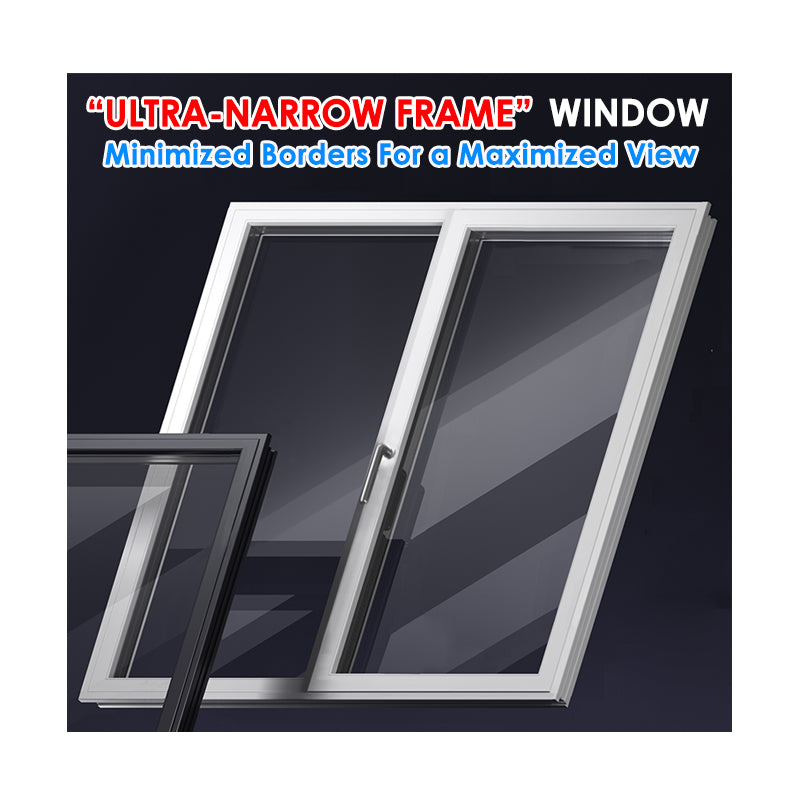 2018 New aluminum window manufacturer frames price MINIMALISM SERIES