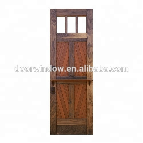 2018 hot sell usa hand carved teak wood doors exterior front doors knotty alder pine larch single entrance wood door entry by Doorwin