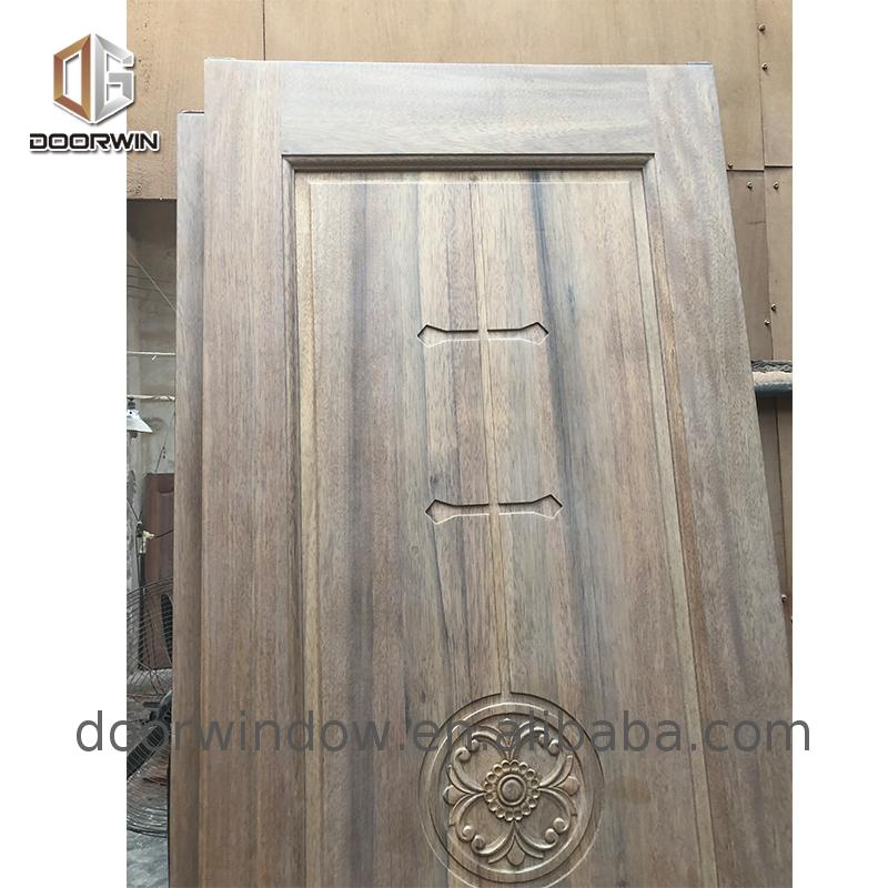 2019 new hand carved wood doors frosted etched interior engineered oak internal
