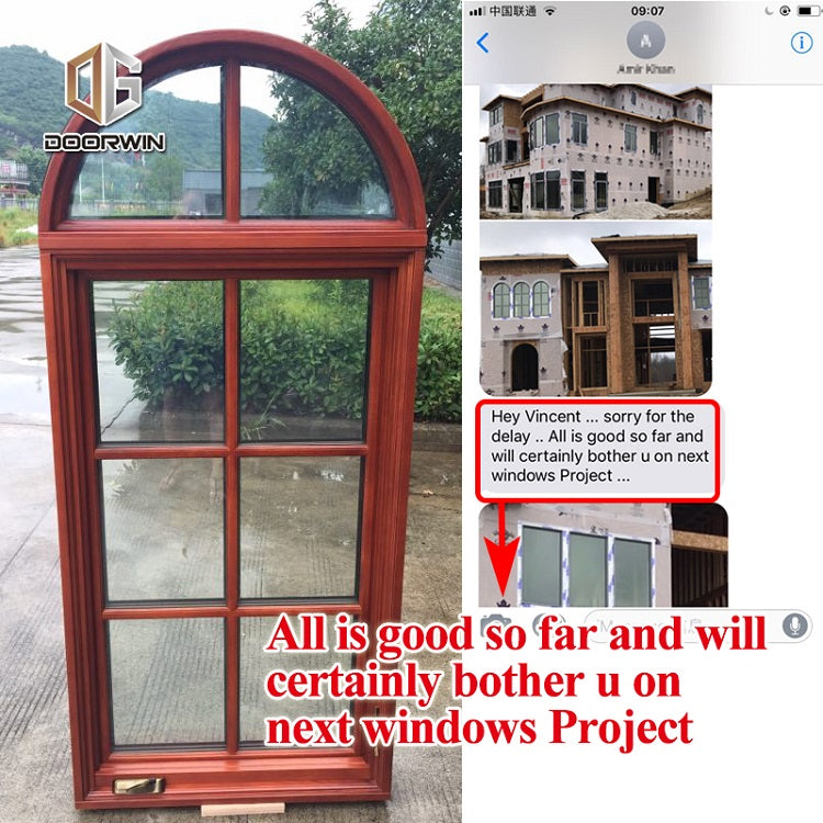 Doorwin wooden window frame design crank casement windows