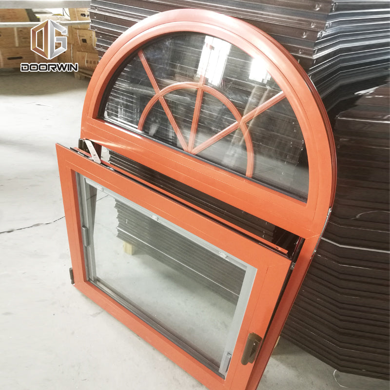specialty shapes window-35 arch top with grille design tilt turn window with built-in blinds shutter