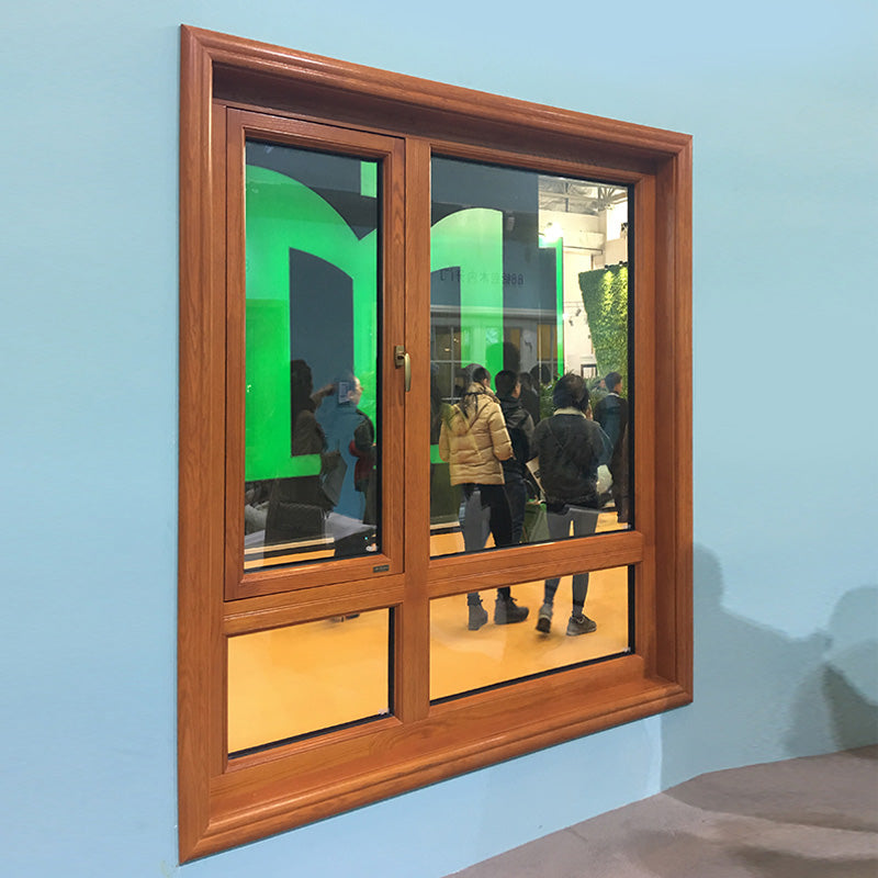 Wood aluminum outswing window